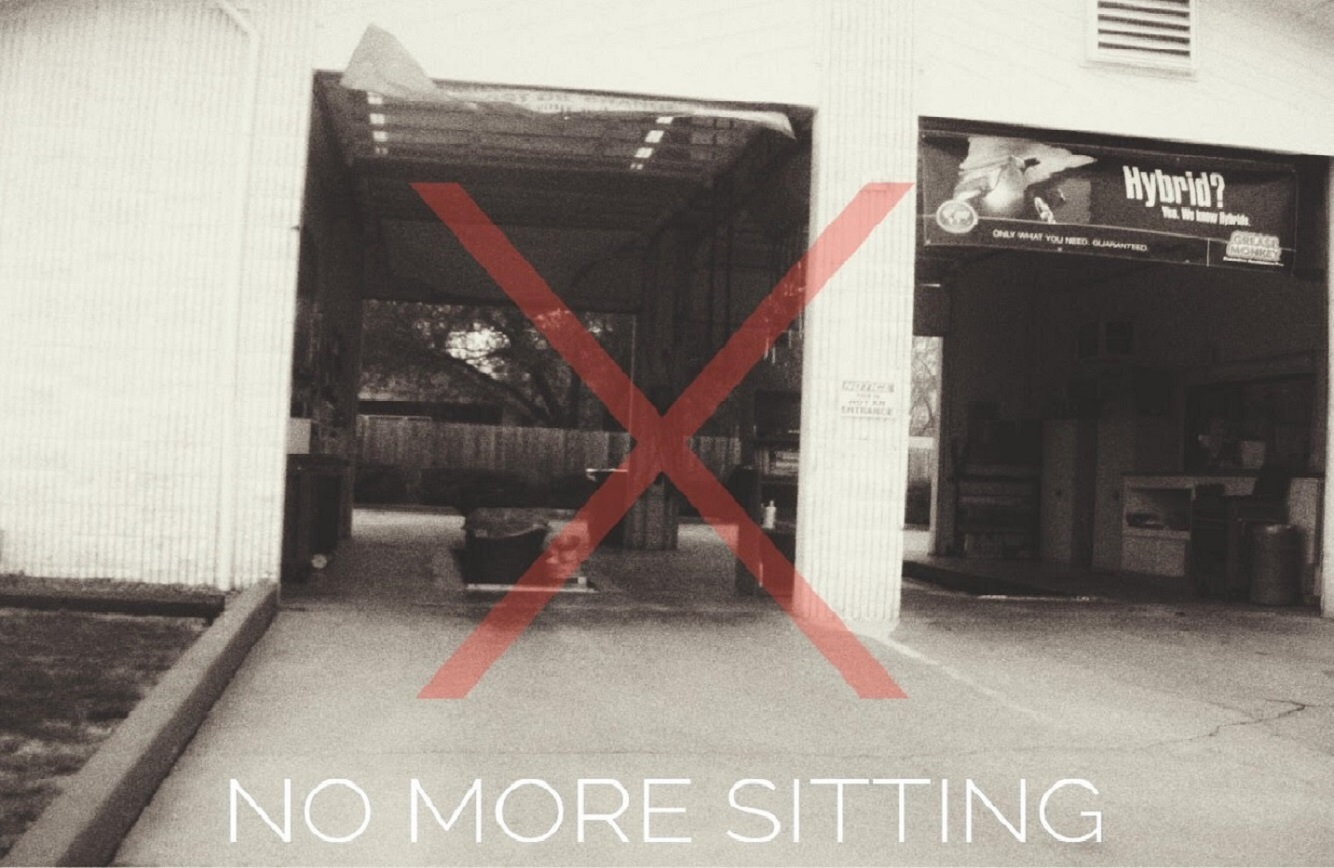 NO MORE SITTING